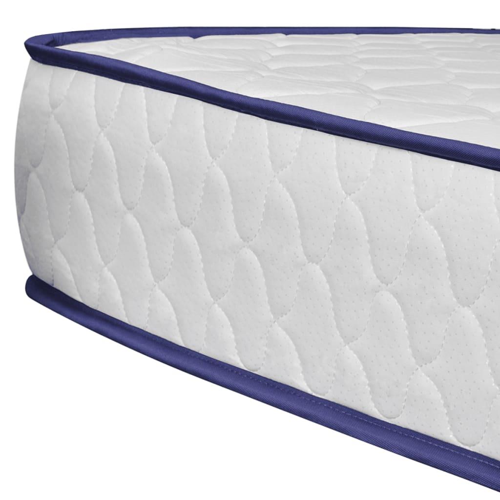 La boutique en ligne lit en simili cuir blanc matelas m moire de forme 140 - Lit simili cuir blanc 140 ...