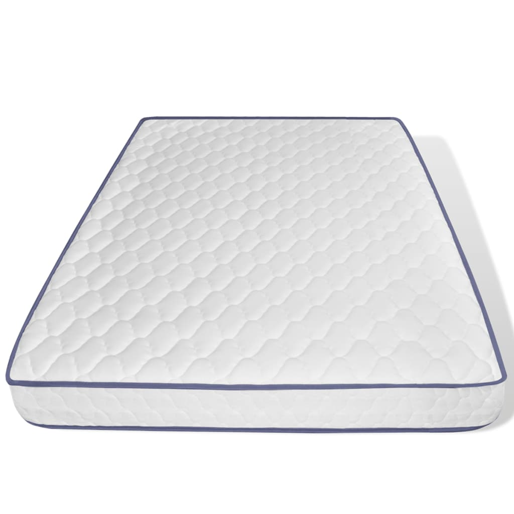 acheter lit en simili cuir blanc matelas m moire de forme 140 x 200cm pas cher. Black Bedroom Furniture Sets. Home Design Ideas