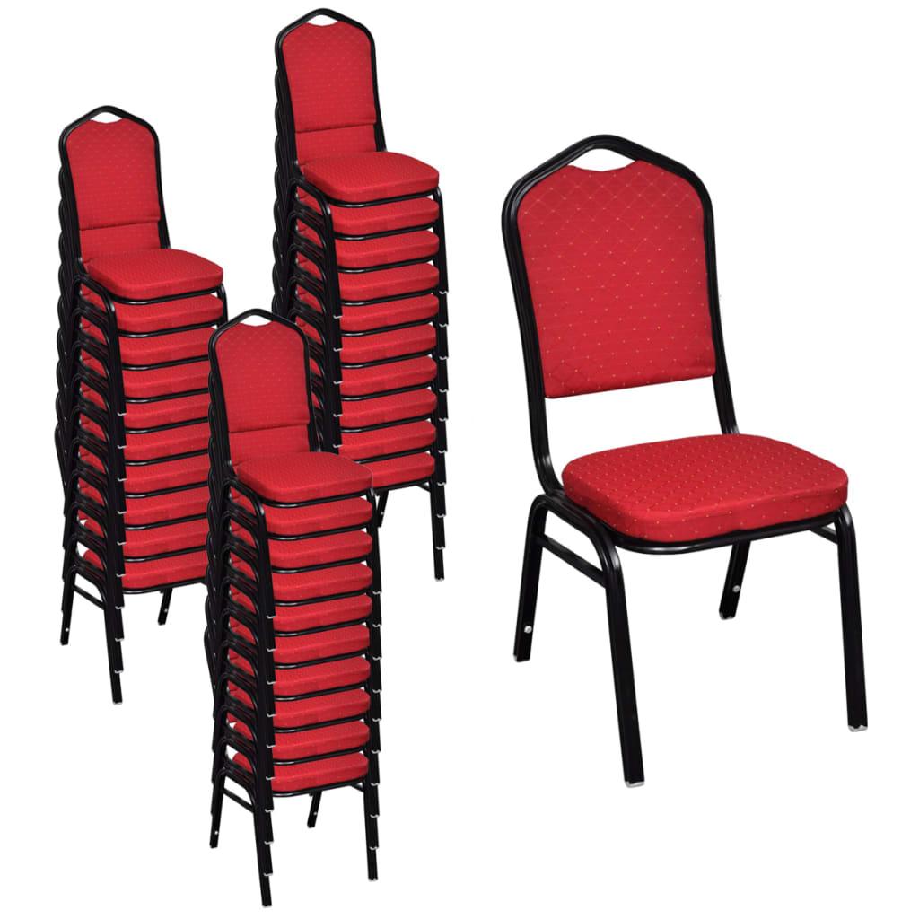 La boutique en ligne 30 pcs set de chaises tapiss es de for Chaises salle a manger rouge