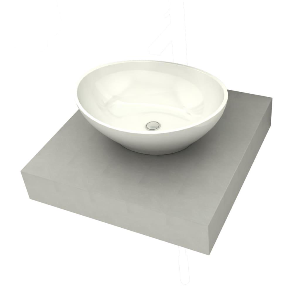 Piano cemento per bagno con 1 lavandino ceramica - Piano lavandino bagno ...