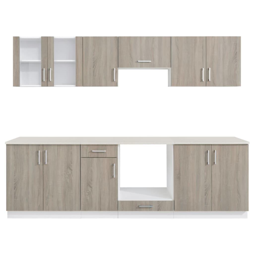 acheter cuisine compl te avec four int gr et plaque de cuisson aspect ch ne pas cher. Black Bedroom Furniture Sets. Home Design Ideas