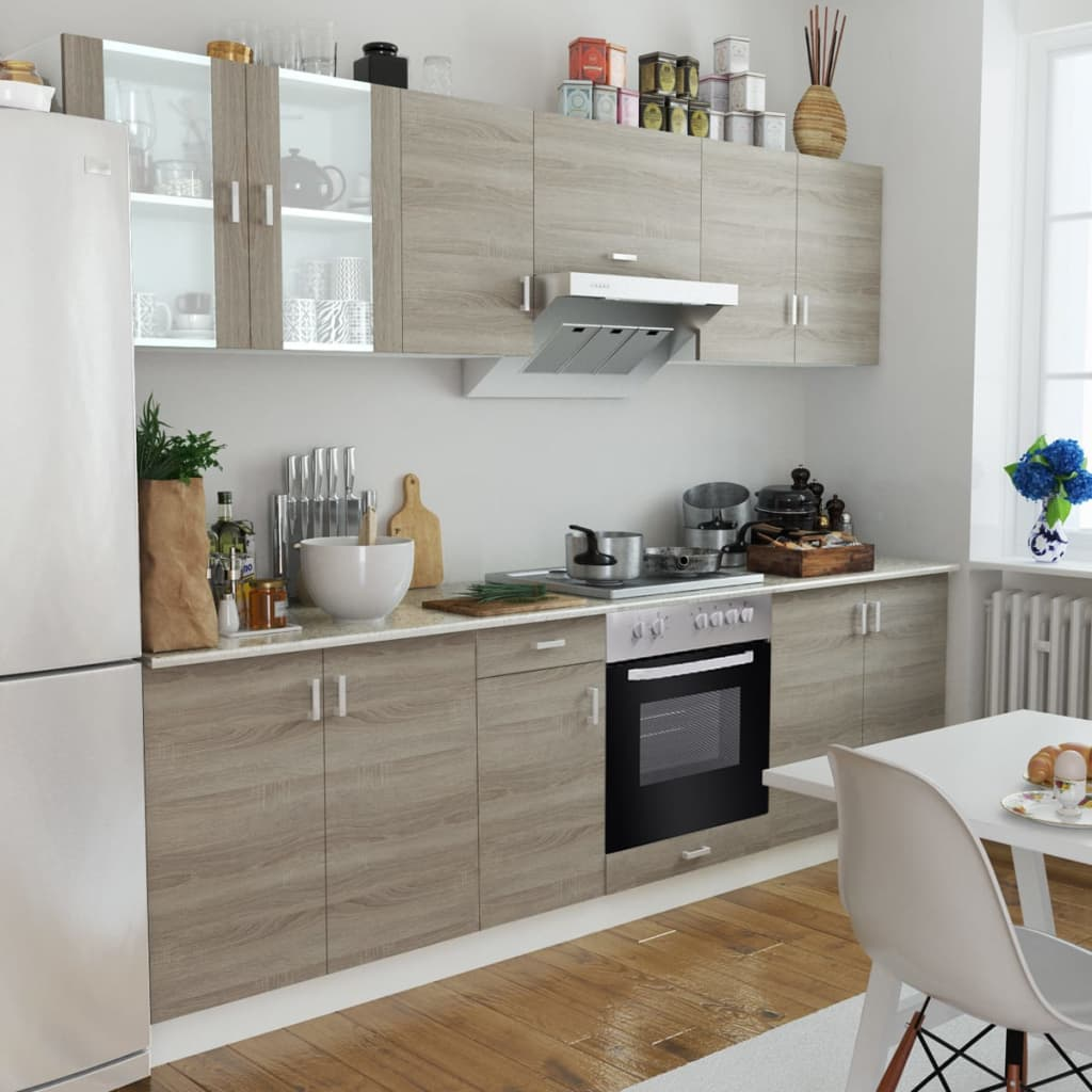 Köksskåp ek-design set med inbyggd kokplatta och ugn (241398 + 50216)