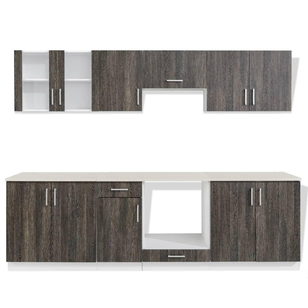 acheter cuisine compl te avec four int gr 8 fonctions aspect wenge pas cher. Black Bedroom Furniture Sets. Home Design Ideas