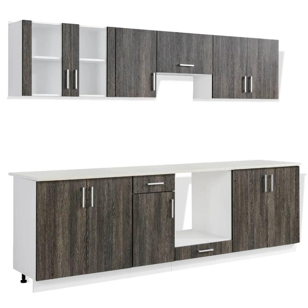 k chenschr nke wenge inkl einbauherd mit 8 funktionen g nstig kaufen. Black Bedroom Furniture Sets. Home Design Ideas