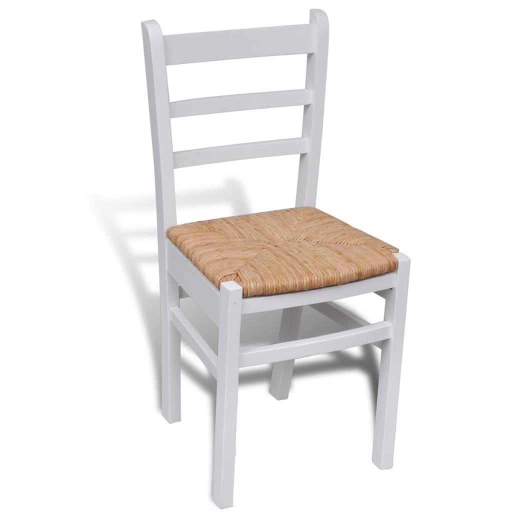 Acheter 6 pcs chaise de salle manger peinture blanche for 6 chaises de salle a manger pas cher