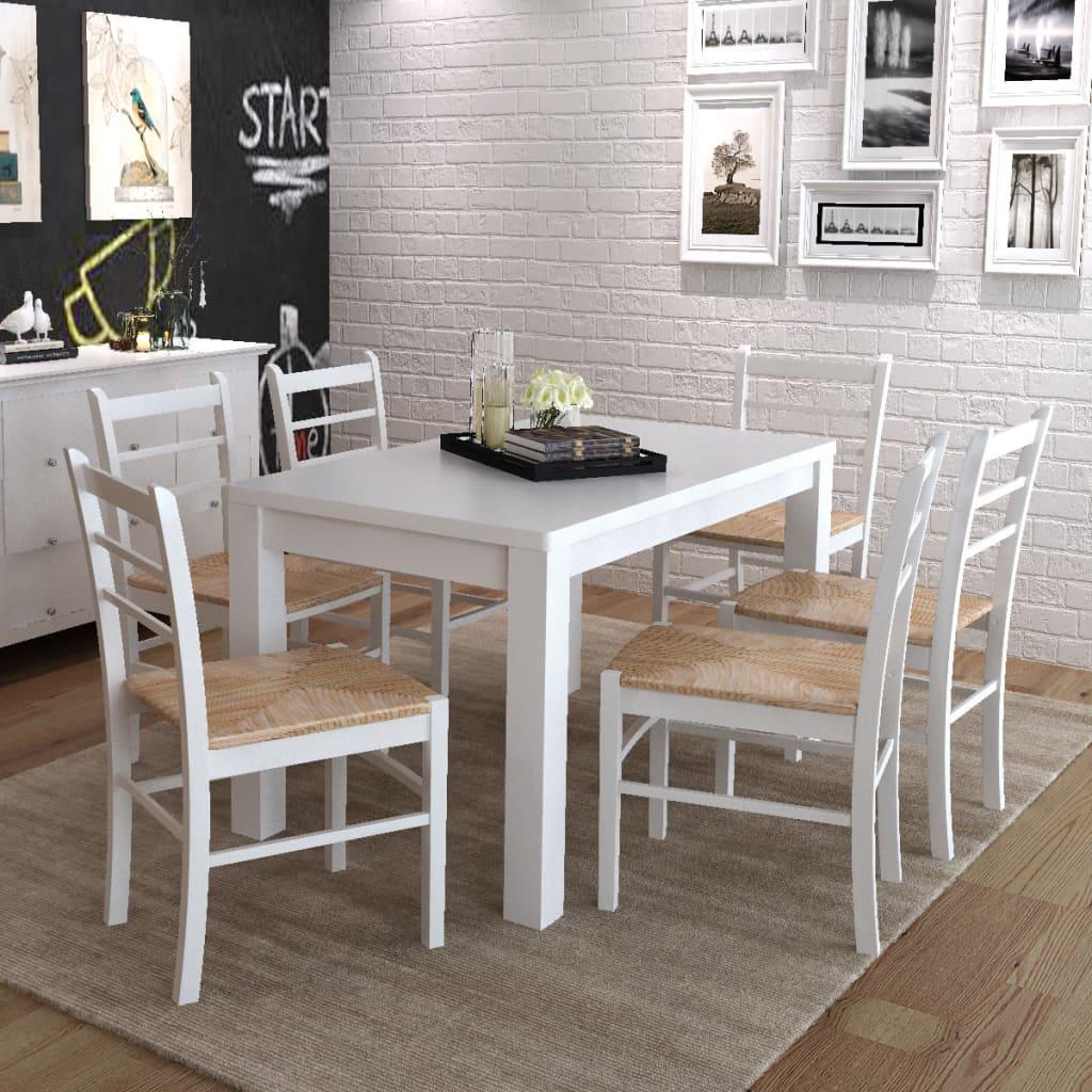 La boutique en ligne 6 pcs chaise de salle manger - Chaise blanche de salle a manger ...