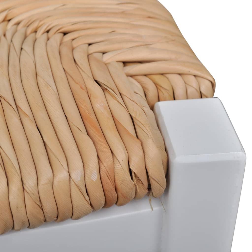 Silla de comedor 6 unidades blancas de madera for Sillas comedor blancas vintage