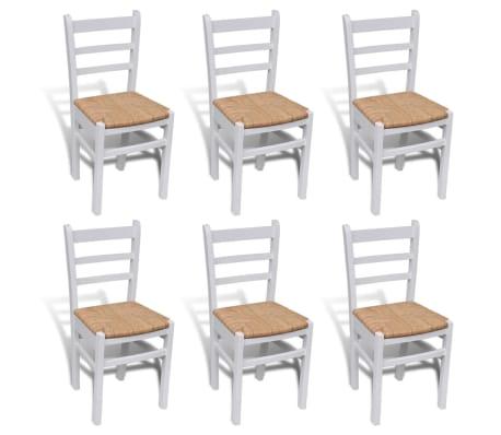 Acheter 6 pcs chaise de salle manger peinture blanche for Chaise de salle a manger blanche