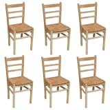 6 pcs Natural Varnish Wooden Dinning Chair