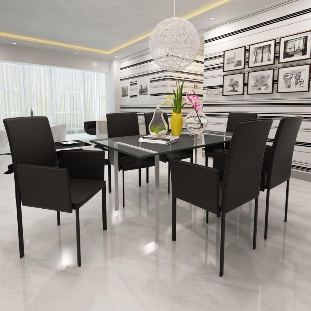 La boutique en ligne 6 pcs fauteuil de salle manger en for Fauteuil de salle a manger