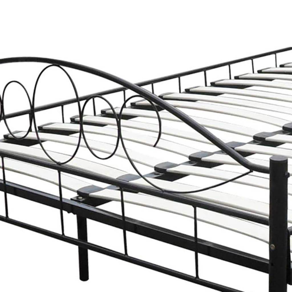 VIDAXL METALLBETT 180x200 Doppelbett Ehebett Metall Bettgestell inkl ...