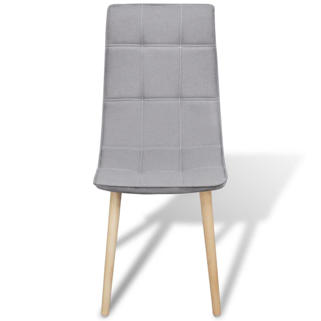 La boutique en ligne 6 pcs chaise de salle manger gris for Chaise salle a manger gris clair