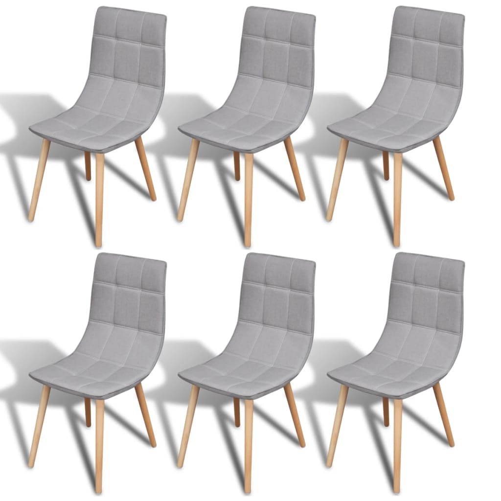 Acheter 6 pcs chaise de salle manger gris clair pas cher for Salle a manger gris clair