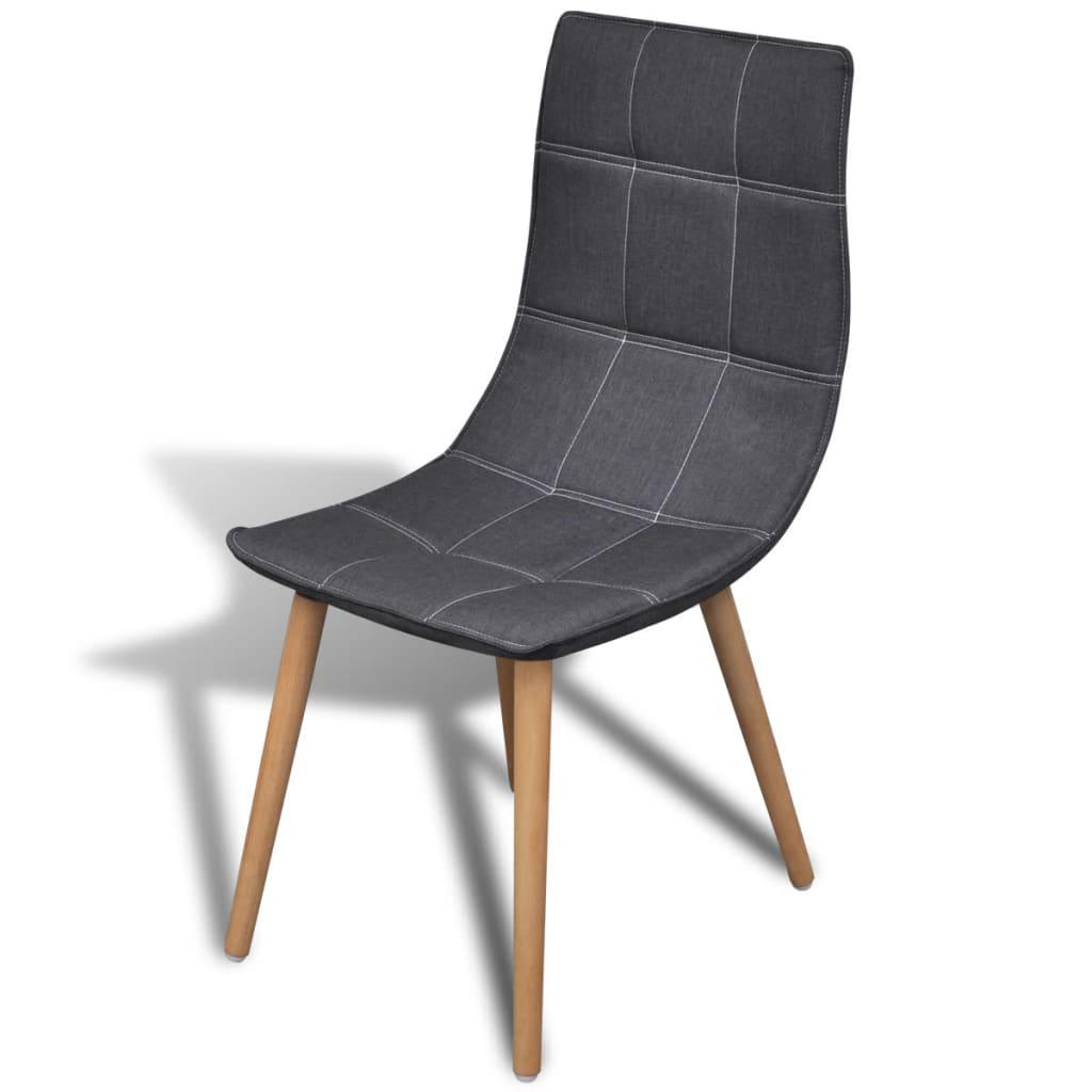Conjunto de 6 cadeiras de jantar estofadas cinza escuro[4/6] #8D643E 1024x1024
