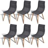 Jídelní židle - 6 ks - tmavě šedá