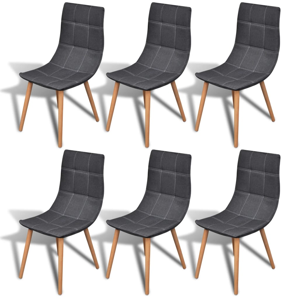la boutique en ligne 6 pcs chaise de salle manger gris fonc. Black Bedroom Furniture Sets. Home Design Ideas