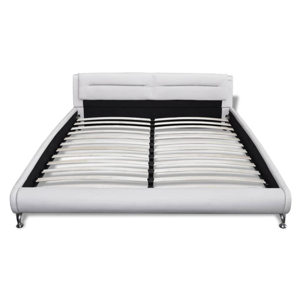 der kunstleder wei schwarz mit led leiste 180x200 cm matratze online shop. Black Bedroom Furniture Sets. Home Design Ideas