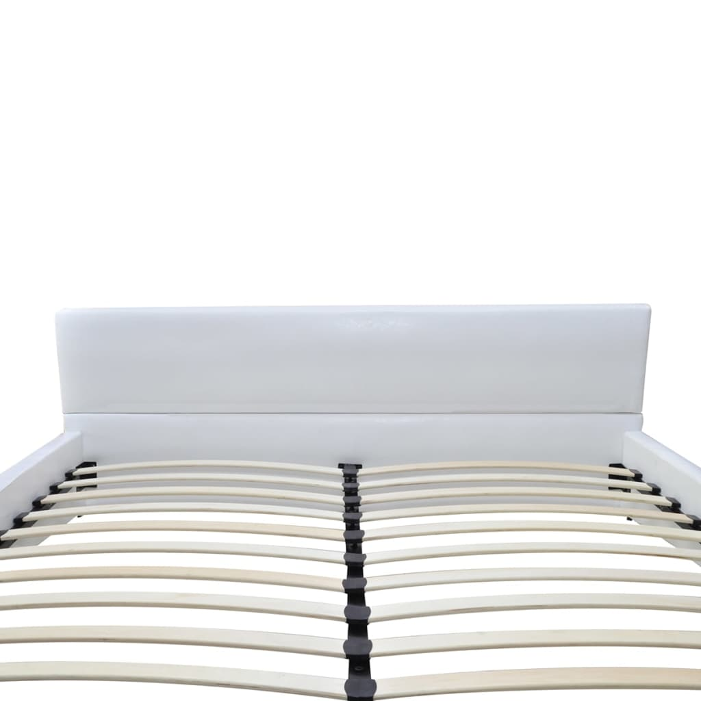 kunstlederbett bettgestell bett wei 180x200cm matratze g nstig kaufen. Black Bedroom Furniture Sets. Home Design Ideas