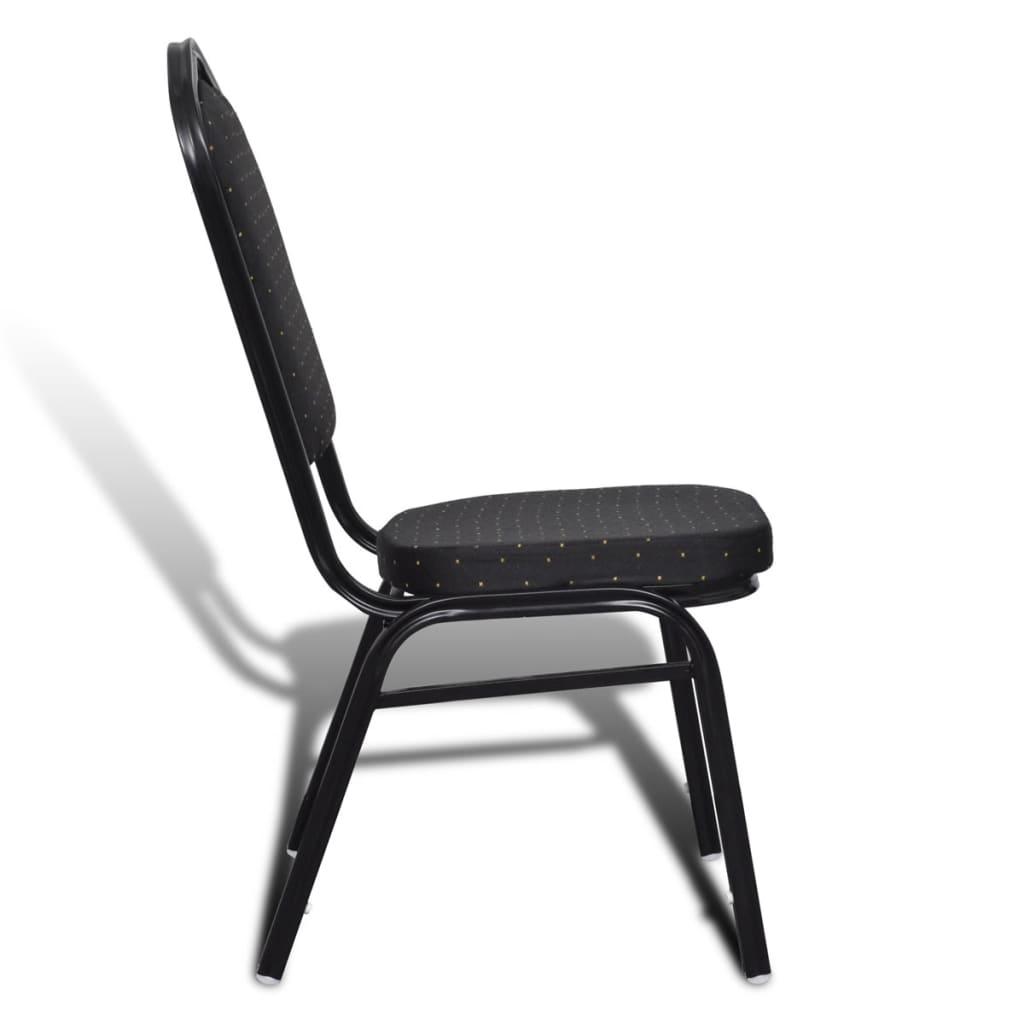 Acheter 10 pcs chaise empilable rembourr e noir pas cher for Chaise rembourree pas cher
