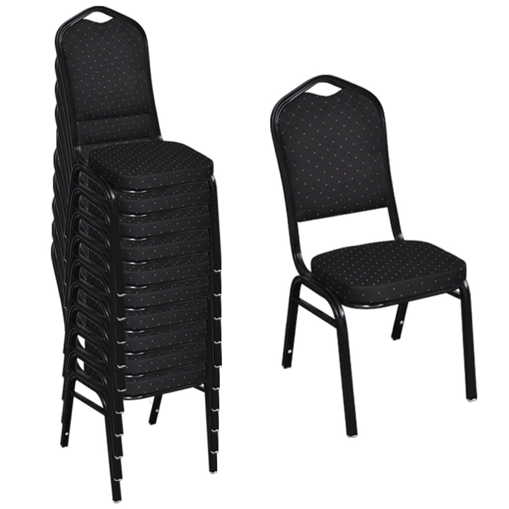 esszimmerstuhl schwarz gepolstert 10 st ck g nstig kaufen. Black Bedroom Furniture Sets. Home Design Ideas