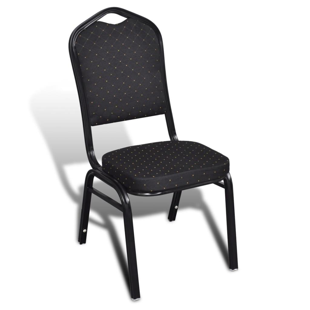 Acheter 20 pcs chaise empilable rembourr e noir pas cher for Chaise rembourree pas cher