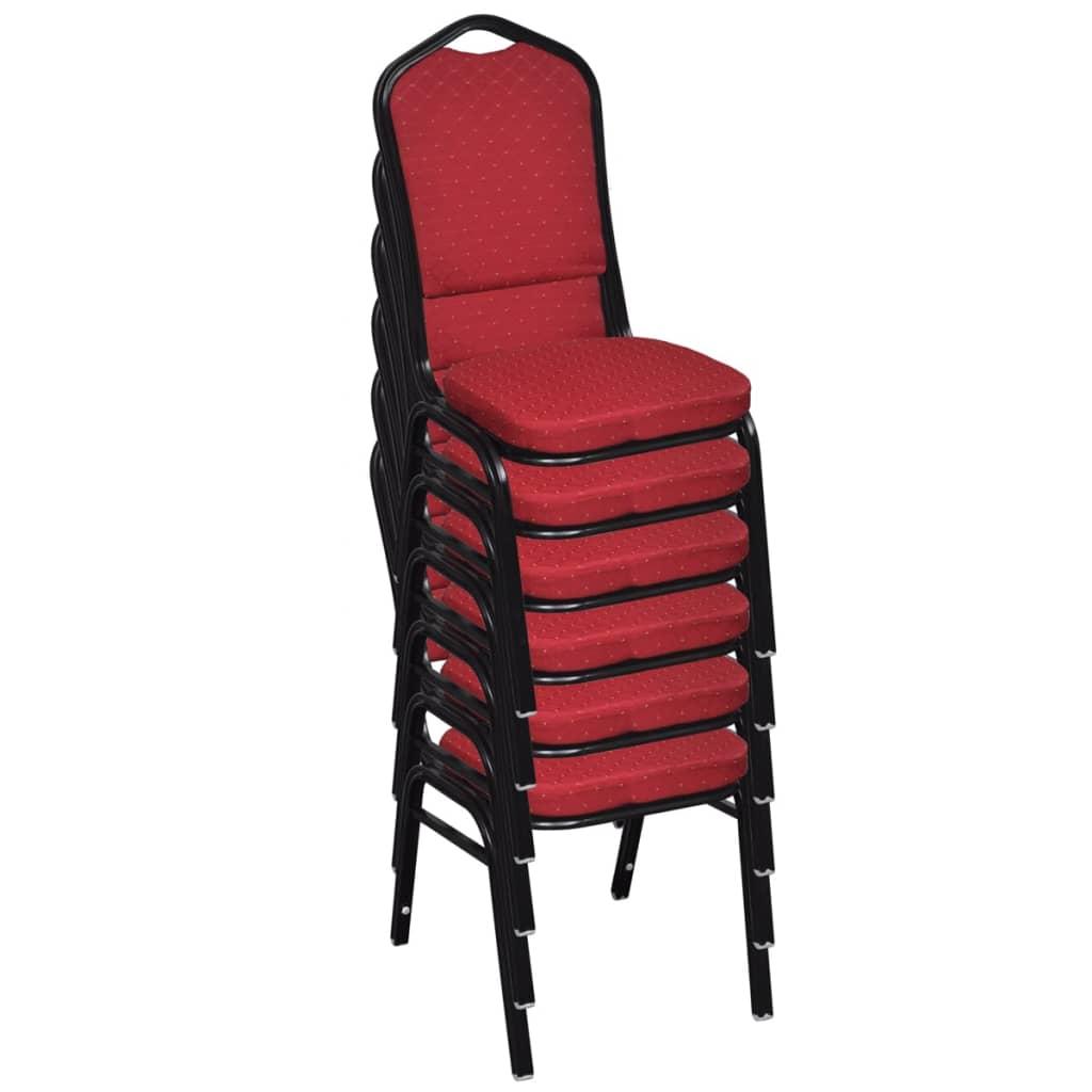 Acheter 20 pcs chaise empilable rembourr e rouge pas cher - Chaise empilable pas cher ...