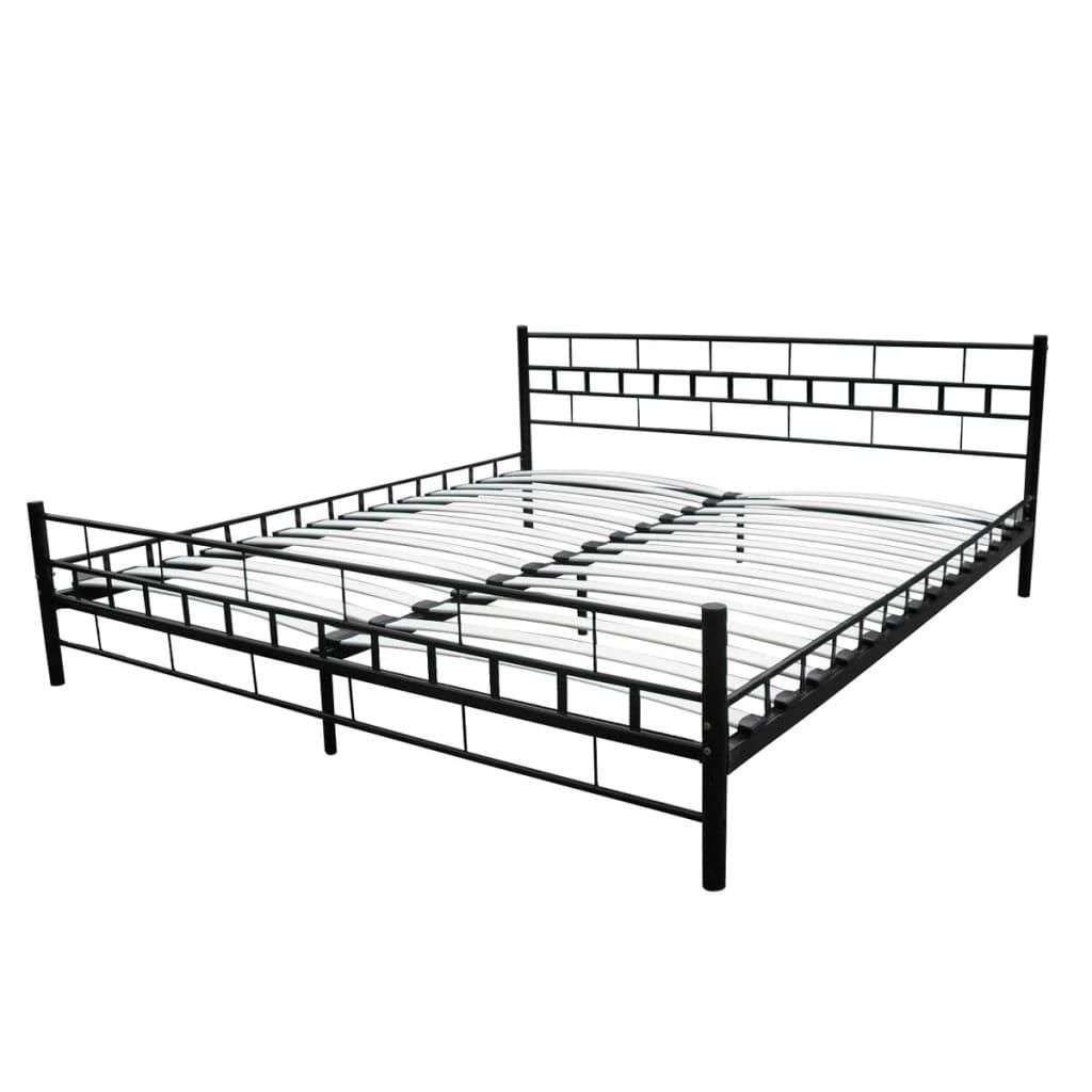 metallbett doppelbett mit lattenrost schwarz 180 x 200 cm. Black Bedroom Furniture Sets. Home Design Ideas