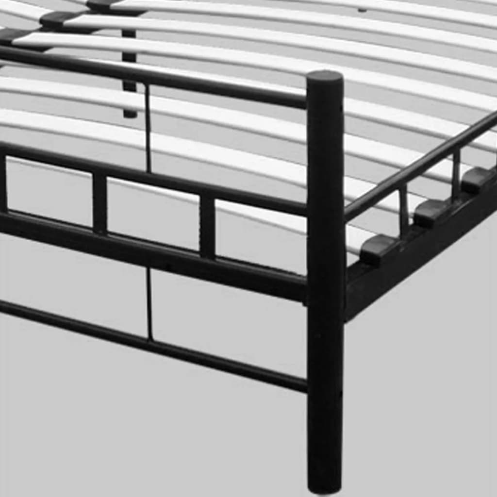 metallbett doppelbett mit lattenrost schwarz 180 x 200 cm. Black Bedroom Furniture Sets. Home Design Ideas