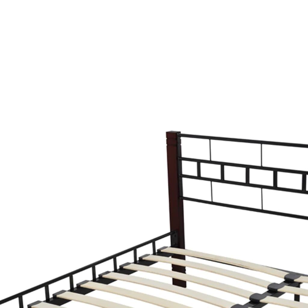 metallbett mit lattenrost schwarz rostbraun 140x200 cm matratze g nstig kaufen. Black Bedroom Furniture Sets. Home Design Ideas