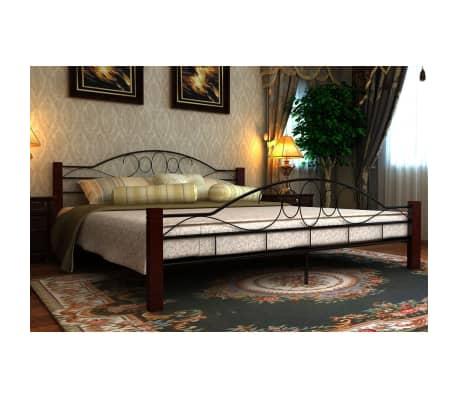 der metallbett doppelbett schwarz rostbraun 140x200 cm matratze online shop. Black Bedroom Furniture Sets. Home Design Ideas