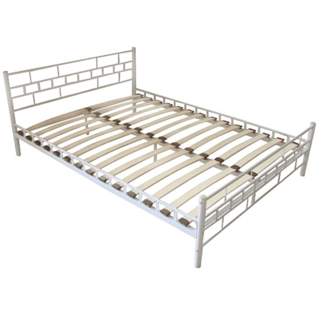 metallbett doppelbett mit lattenrost wei 180 x 200 cm matratze g nstig kaufen. Black Bedroom Furniture Sets. Home Design Ideas