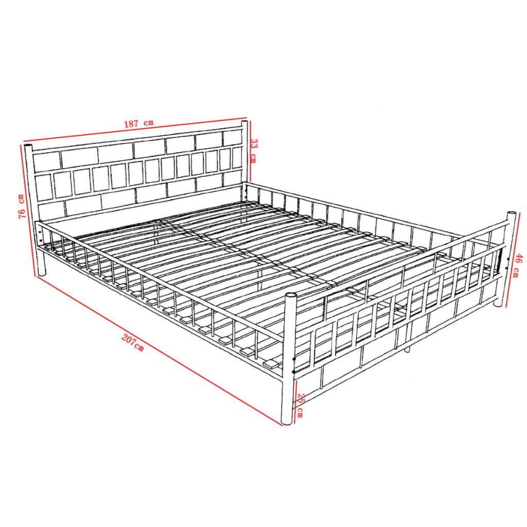 der metallbett doppelbett mit lattenrost wei 180 x 200 cm matratze online shop. Black Bedroom Furniture Sets. Home Design Ideas