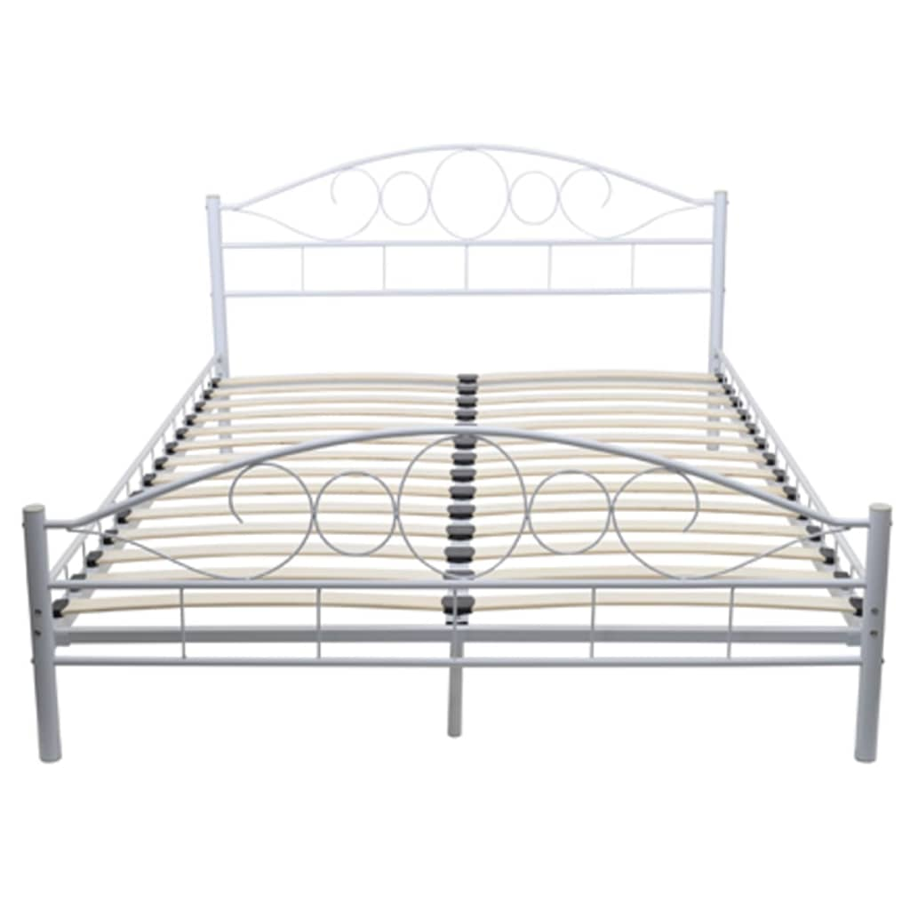 der metallbett doppelbett mit lattenrost wei 180x200 cm matratze online shop. Black Bedroom Furniture Sets. Home Design Ideas