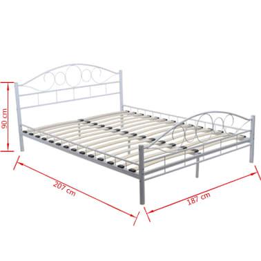 vidaxl metalen bed inclusief matras 180 x 200 cm wit