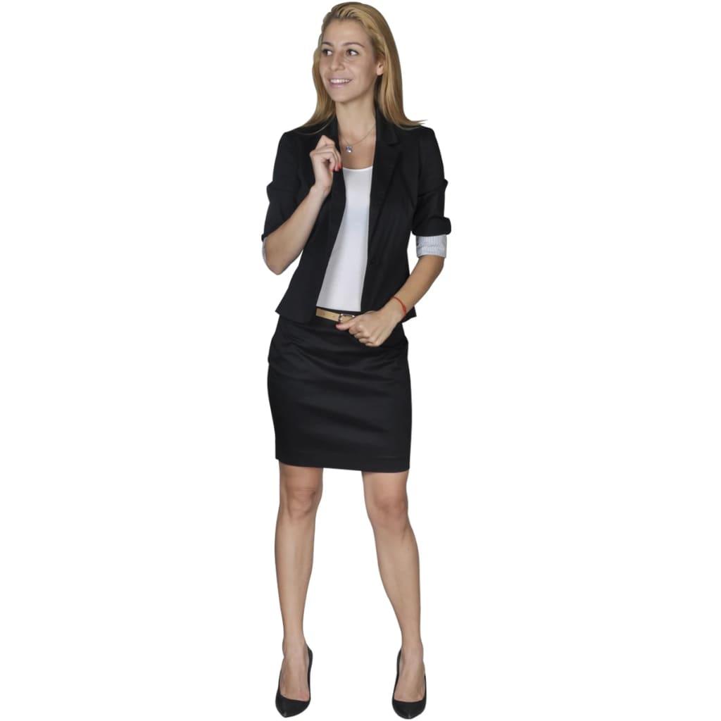 acheter costume tailleur femme et minijupe avec ceinture 36 noir pas cher. Black Bedroom Furniture Sets. Home Design Ideas