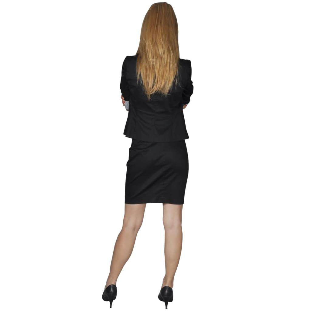 anzug damen blazer und minrock schwaz gr 40 g nstig. Black Bedroom Furniture Sets. Home Design Ideas