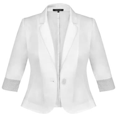 Anzug Damen Blazer und Minrock Weiß Gr. 36[6/14]