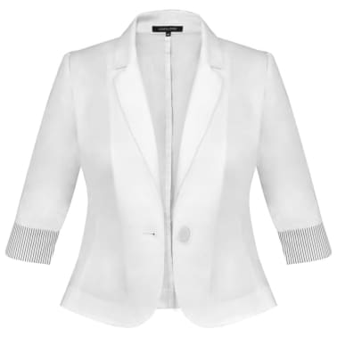 Anzug Damen Blazer und Minrock Weiß Gr. 38[6/14]