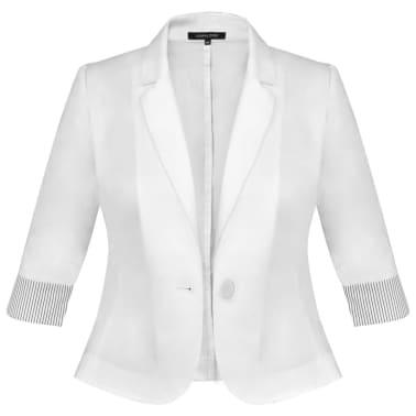 Anzug Damen Blazer und Minrock Weiß Gr. 40[6/14]