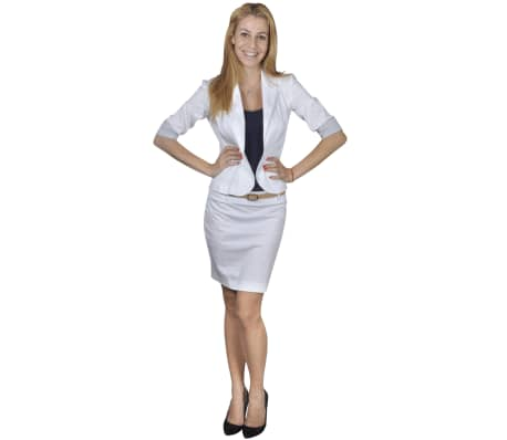 Anzug Damen Blazer und Minrock Weiß Gr. 40
