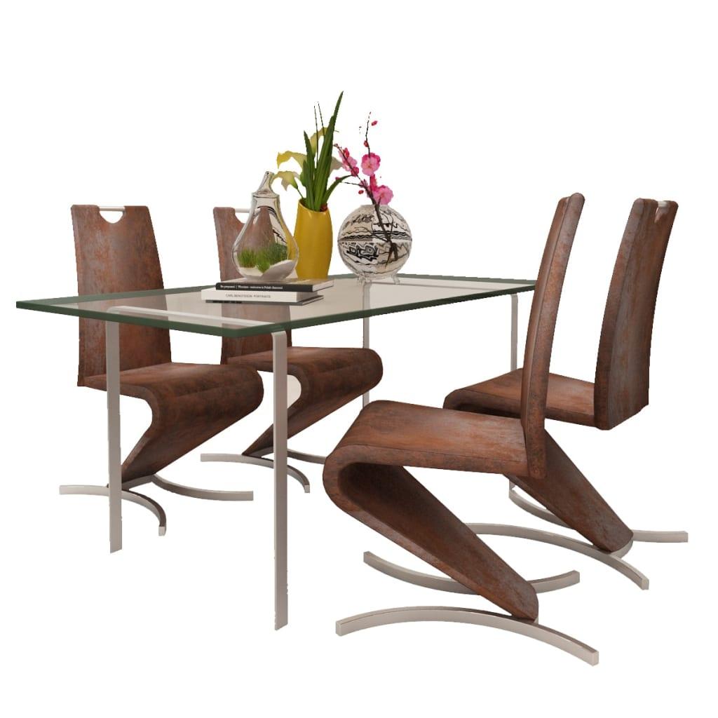 La boutique en ligne chaise en simili cuir cantilever avec for Chaise en forme de main