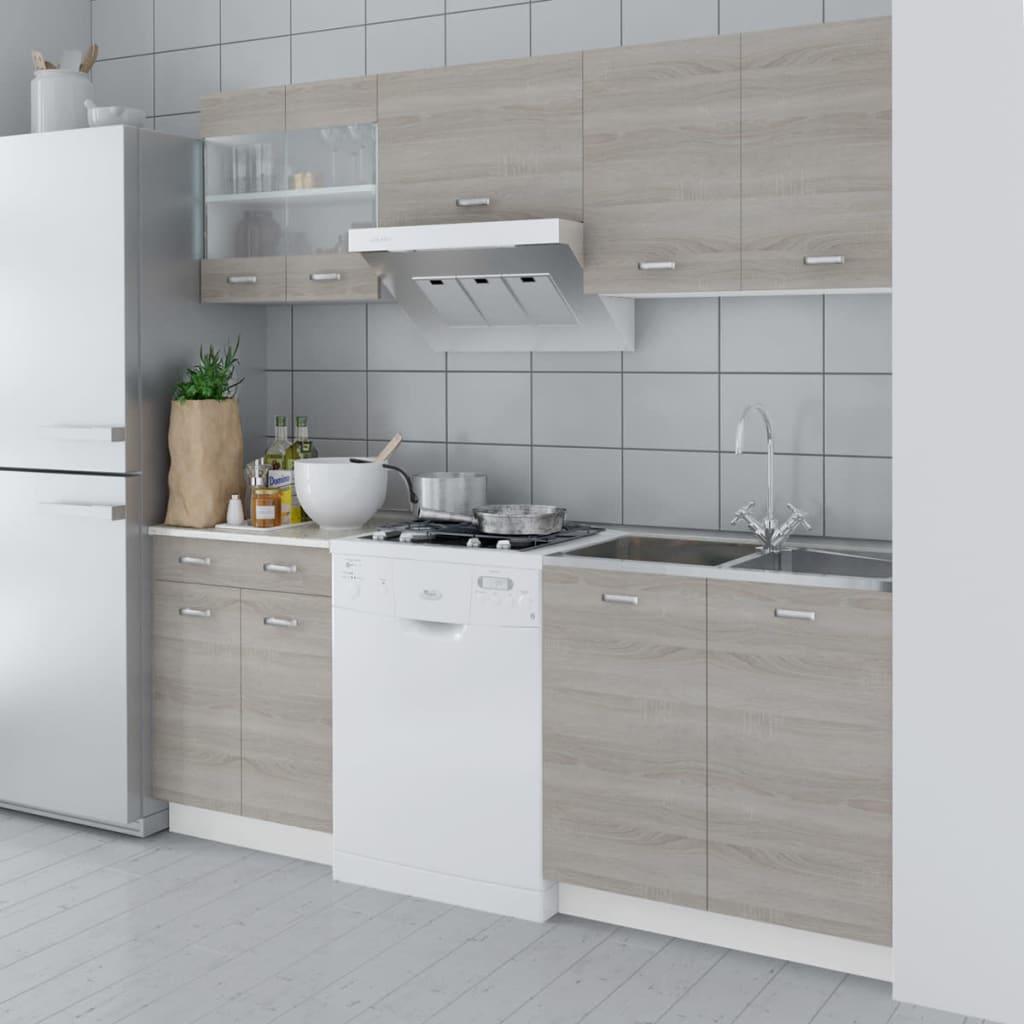 acheter cuisine compl te 5 pi ces aspect ch ne avec vier 80 x 60 cm pas cher. Black Bedroom Furniture Sets. Home Design Ideas