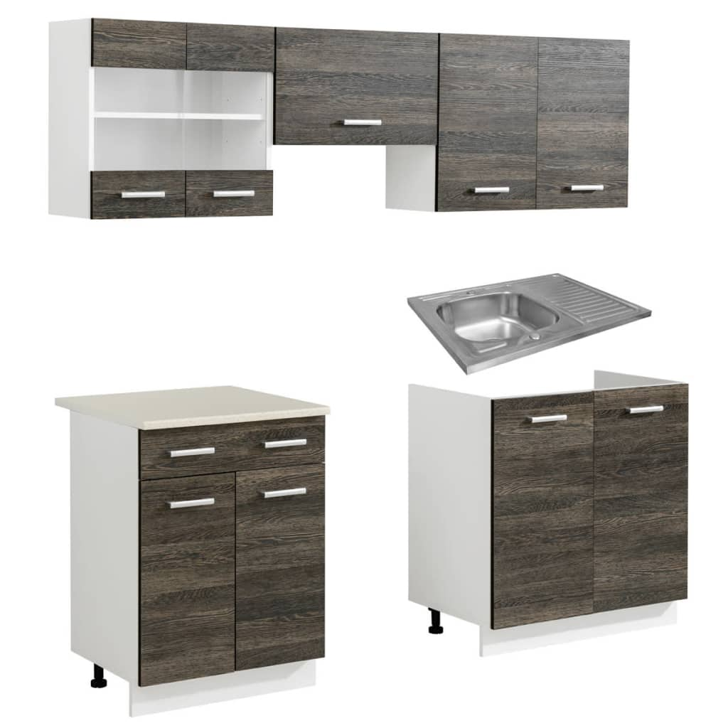 wenge look kitchen cabinet unit 5 pcs with. Black Bedroom Furniture Sets. Home Design Ideas