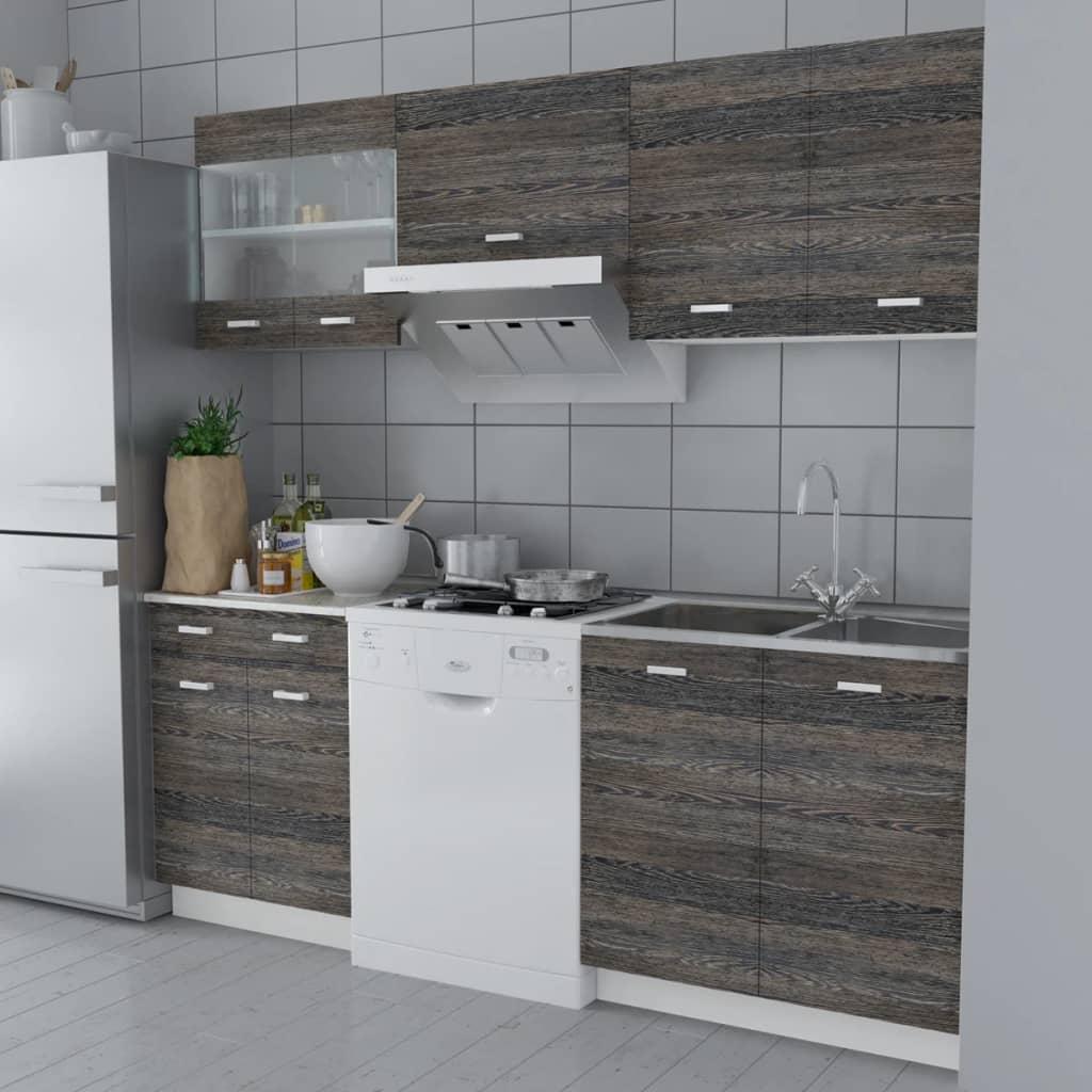 Köksskåp i Wenge-design 5 delar med diskho 80 x 60 cm