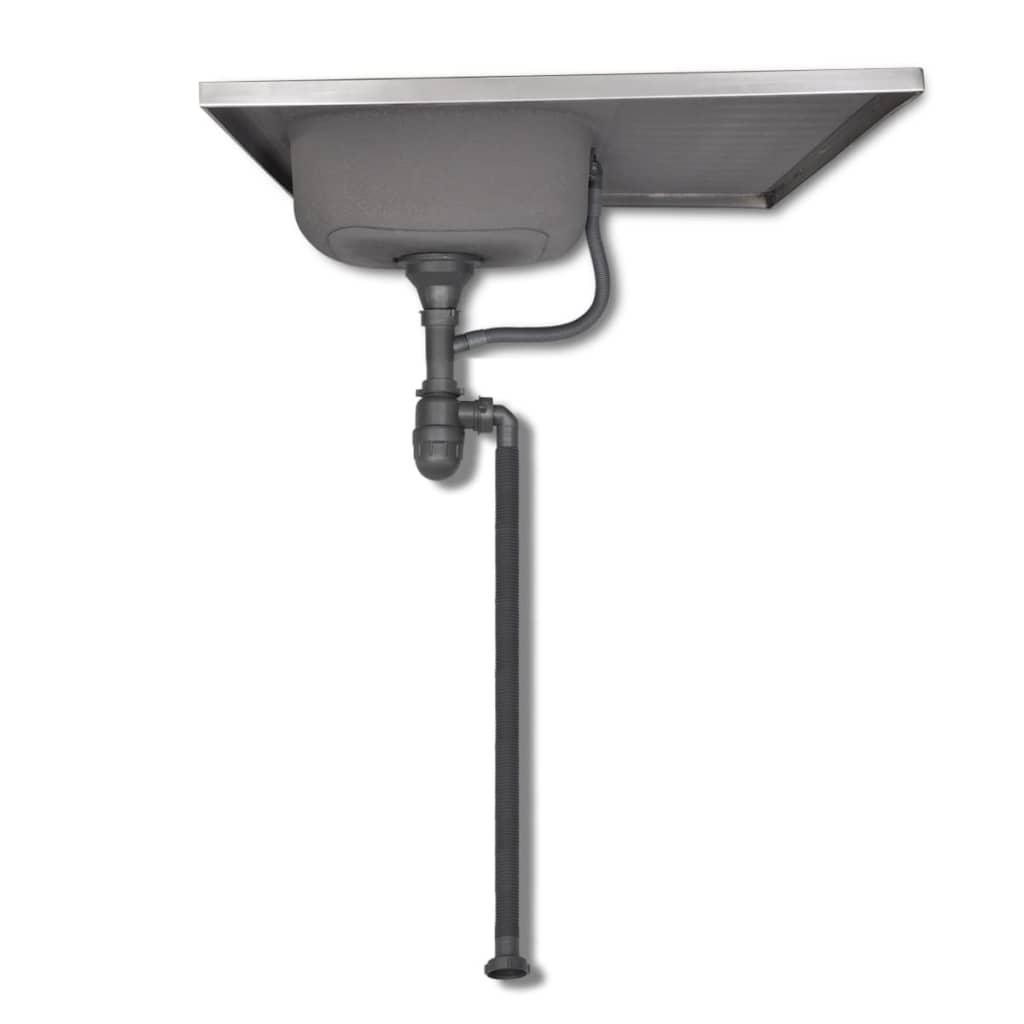 Der Küchenschränke WengeOptik 8 Stück mit Spülbecken