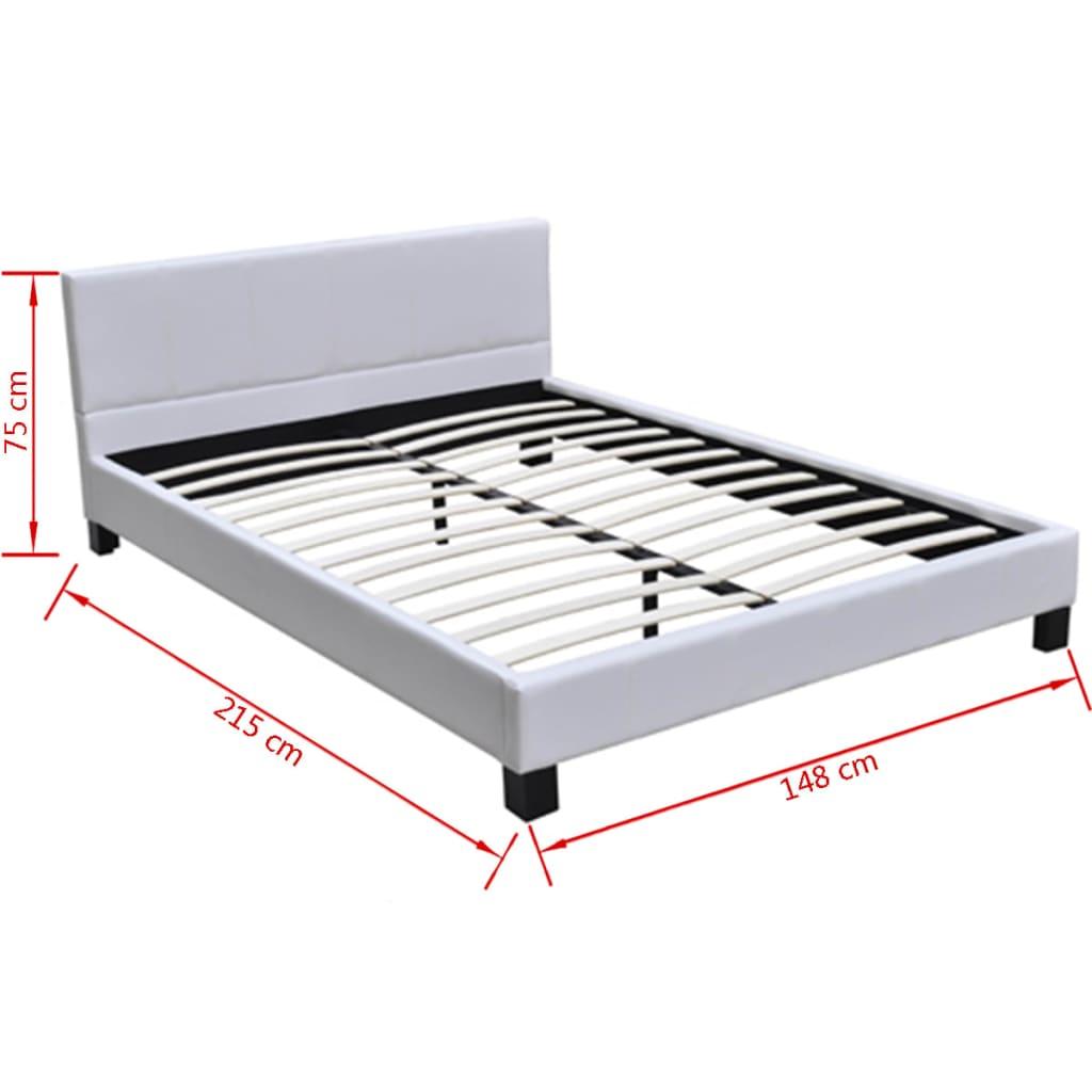 polsterbett 140x200 kunstleder komofortbett wei matratze mit bezug g nstig kaufen. Black Bedroom Furniture Sets. Home Design Ideas