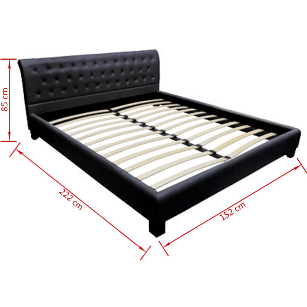 polsterbett 140x200cm schwarz matratze mit bezug g nstig. Black Bedroom Furniture Sets. Home Design Ideas