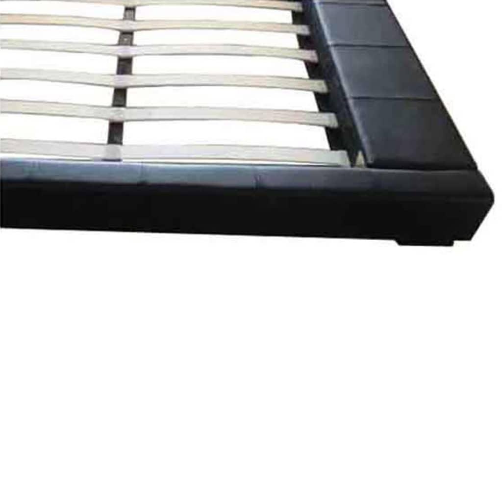polsterbett 180 x 200 cm doppelbett schwarz matratze mit. Black Bedroom Furniture Sets. Home Design Ideas