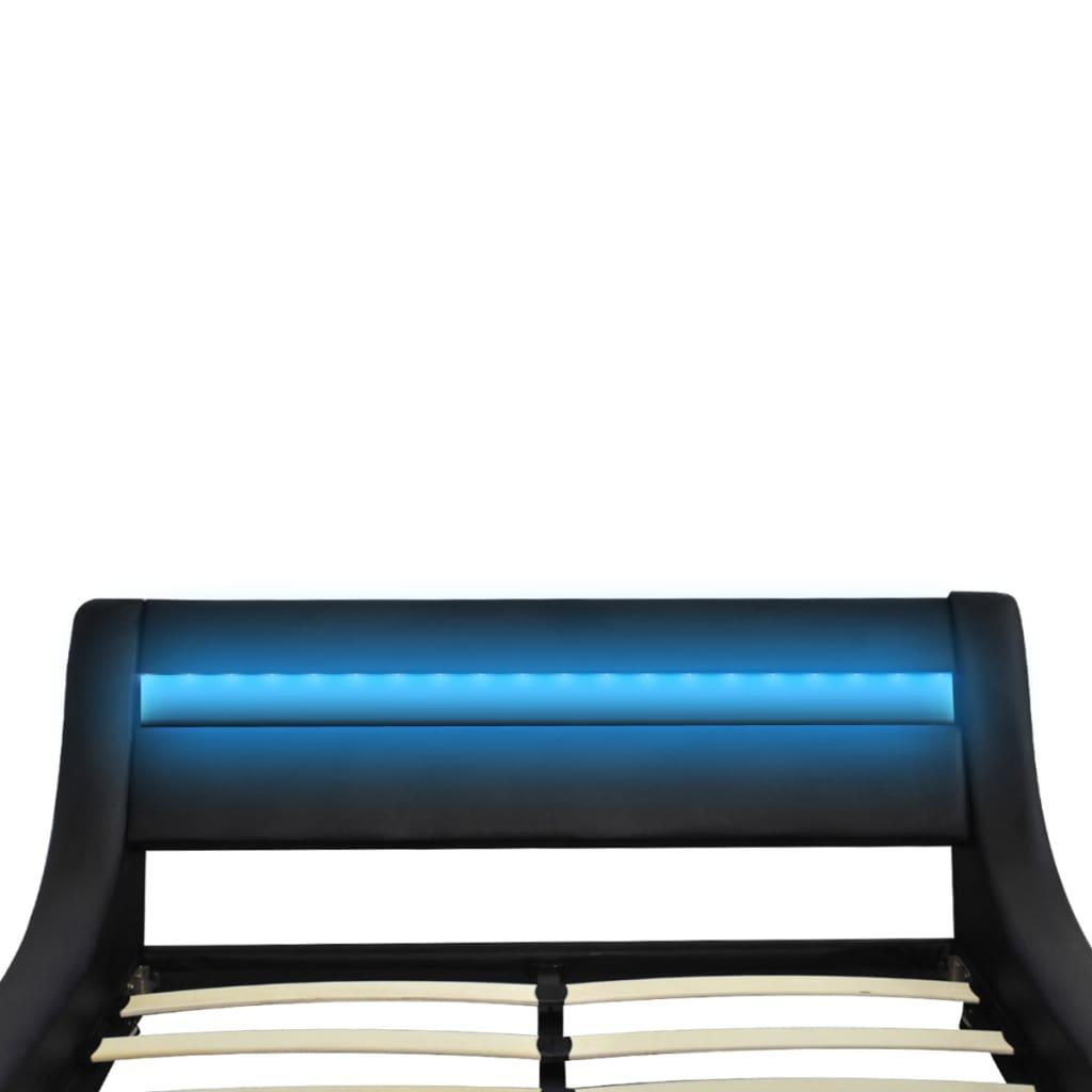 Articoli per Letto Nero Spira Pelle Artificiale 180 cm con LED e Materasso  vidaXL.it