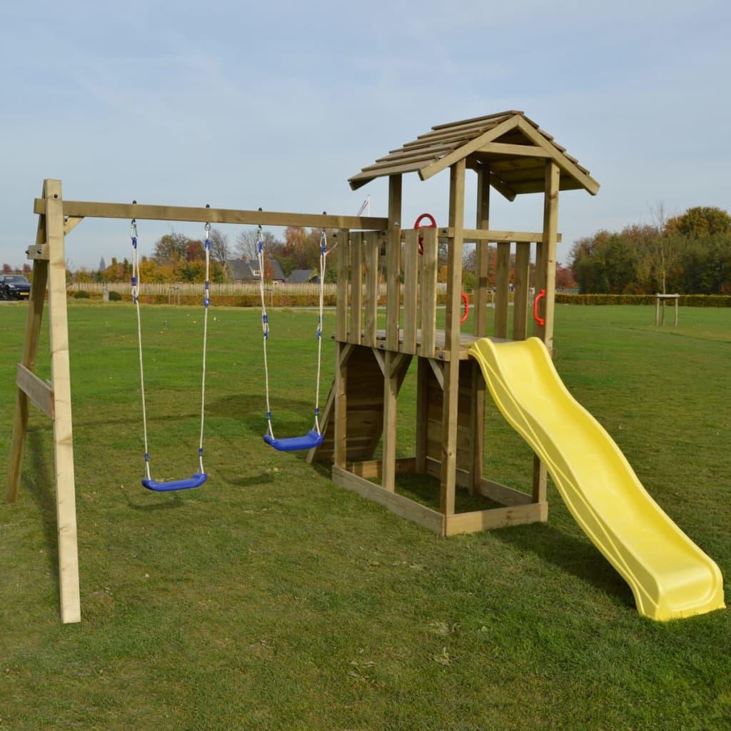 Einzigartig Der Spielplatzanlage Spielturm aus Holz mit Rutsche und Schaukeln  GV41